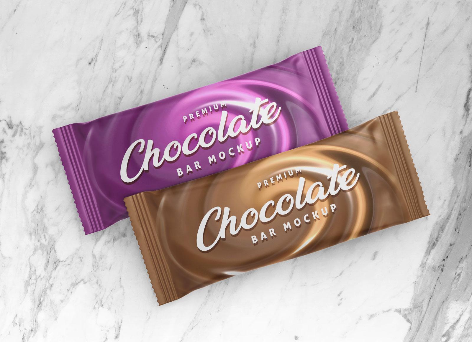 Free Chocolate Bar 2 Packaging Mockup Free Package Mockups