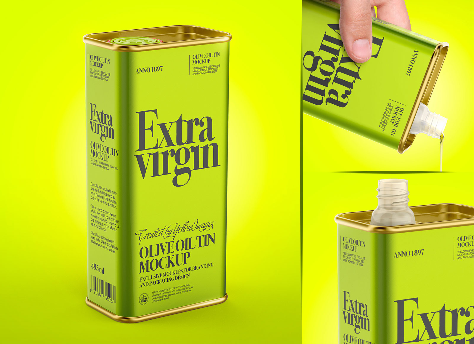Download Free Olive Oil Tin Can Mockup Free Package Mockups PSD Mockup Templates