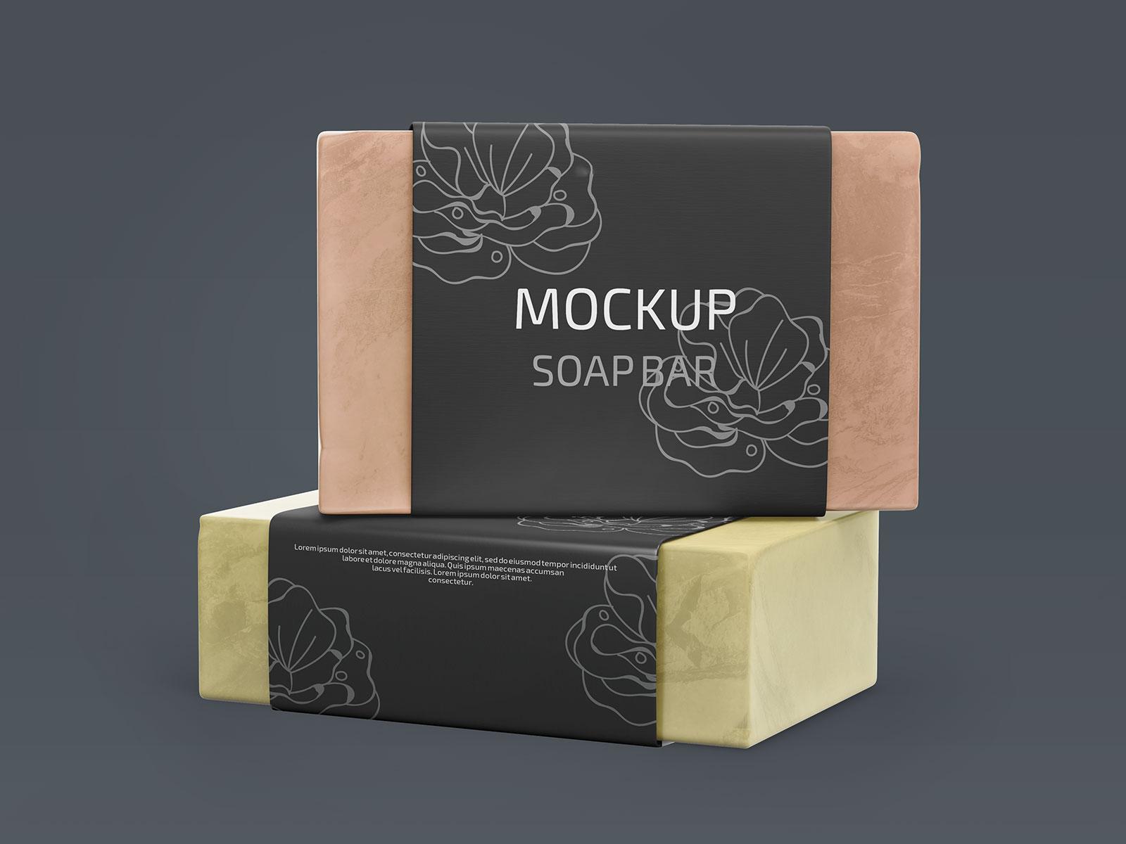 Organic Homemade Soap Wrapper Mockup