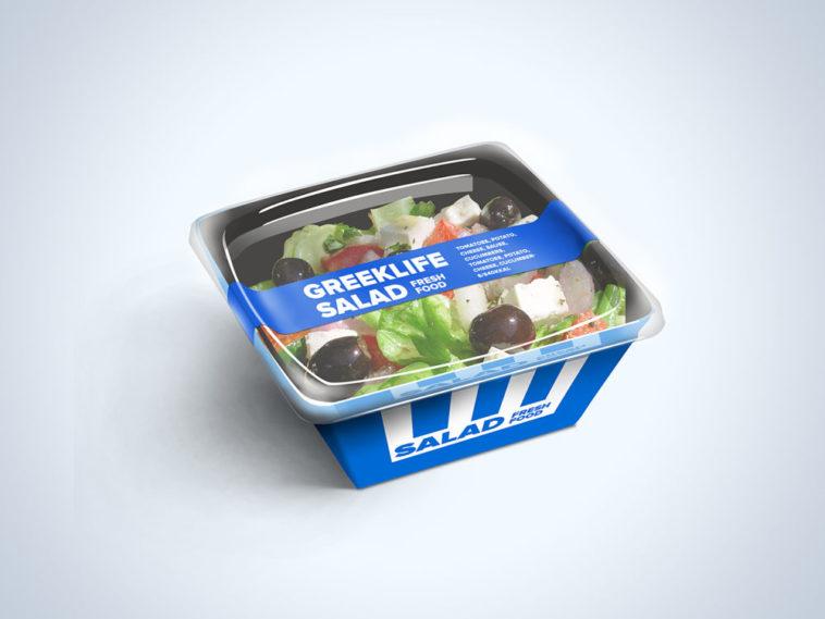 Salad Food Packaging Mockup Free Package Mockups