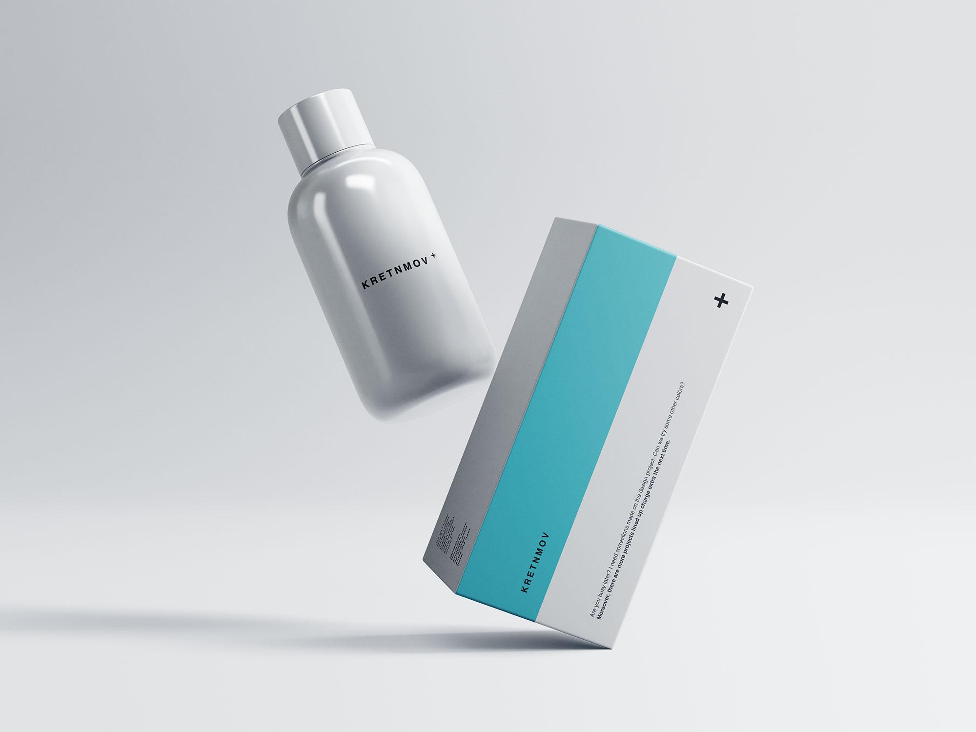 Free Medical Box Bottle Packaging Mockup Free Package Mockups