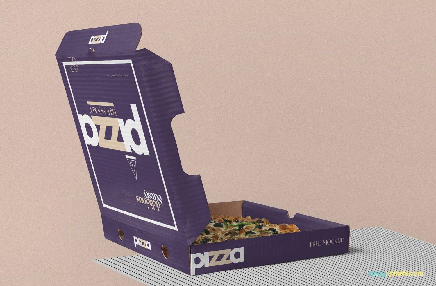 Free Open Pizza Box Mockup Free Package Mockups